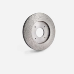 Continuous rim wet squaring wheel with wide band for roughing