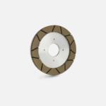 Wet resin segmented wheel for finishing