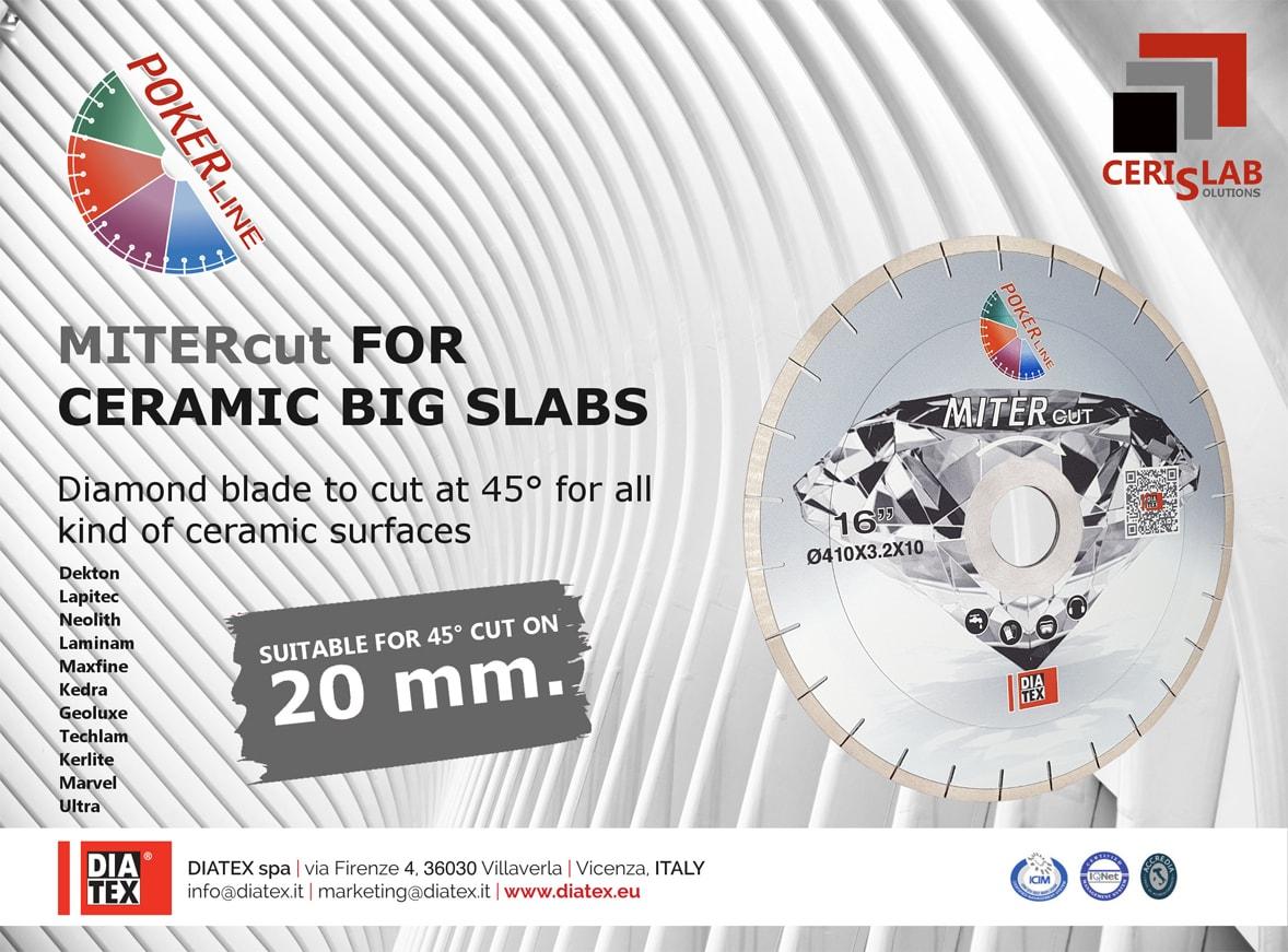 Poker Line Diamond Blades For Ceramic Big Slabs