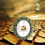 Dry resin segmented wheel for finishing